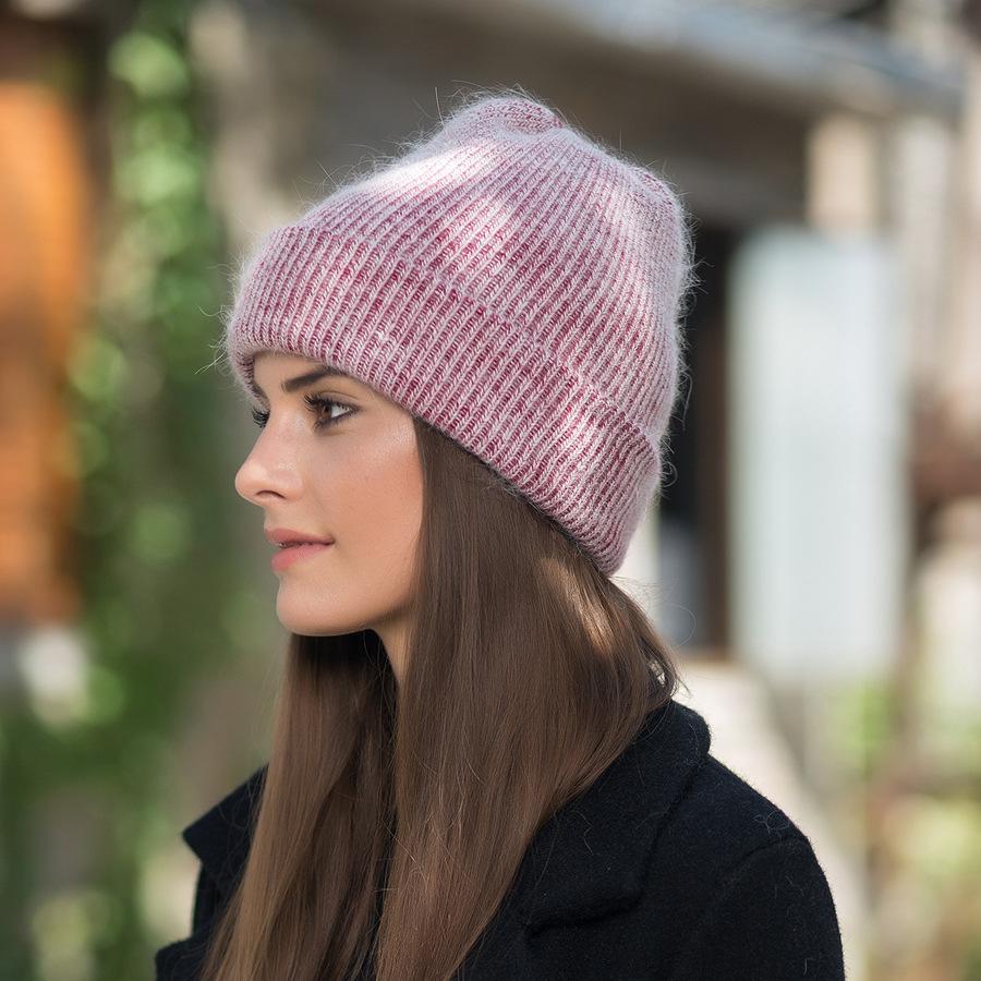 2017 New Autumn Winter Beanies Hats For Women Knitting Warm Wool Skullies Caps Ladise Hat Pompom Gorros (15)