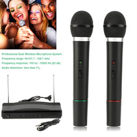 HOT Dual Professional Wireless Microphone with Receiver for BM 800 Karaoke Microphone Party KTV Studio BUS66