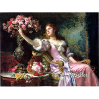 3D Diamond Painting Beauty With Flowers Diamond Mosaic Full Rhinestones Drill Cross Stitch Kits Square Diamond