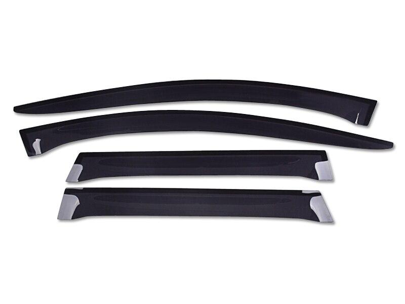 2009-2015 Pour Volvo XC60 Fenêtre Visière Évent Nuances Bouclier Soleil Pluie Gardes 4 pièces