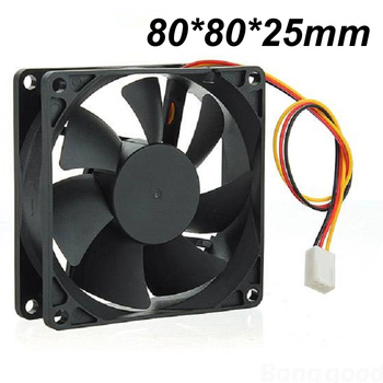 Non-toxic New 80mm 3Pins 12V PC CPU Host Chassis Computer Case IDE Fan Cooling Cooler image