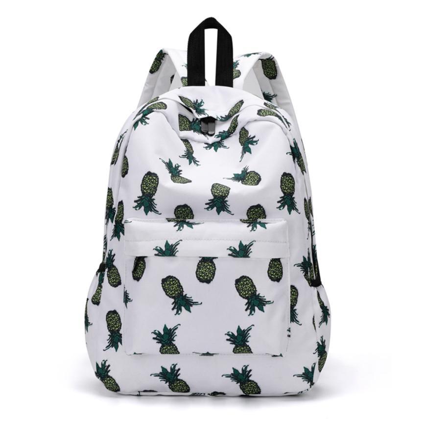Backpack Pineapple Print Bookbags Women Travel Backpack Large Capacity Bag Waterproof Backpacks Women Shoulder Backpacks Bags#30
