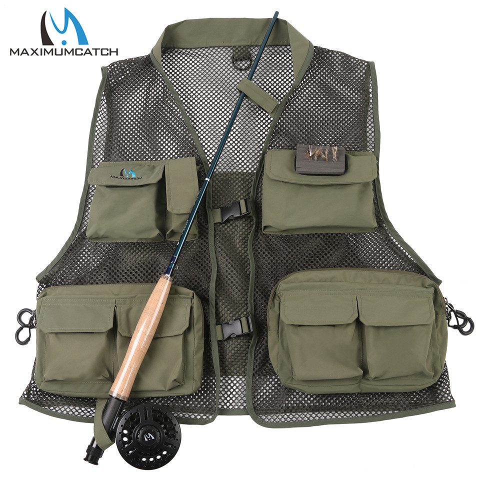 Maximumcatch New Fishing Vest Fishing Pack Outdoor Handy Adjustable Fly Vest maximumcatch fishing sling back pack outdoorsport fly fishing sling bag with fly patch