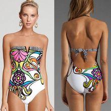 Sexy Bikini Womens High Waisted Vintage Bikini Push-Up Monokini Swimsuit Swimwear S/M/L