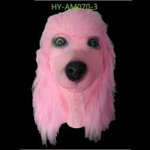 2019 Hot Poodle Cosplay Animal Mask Carnival Animal Head Latex Dog Mask Animal Party цена 2017