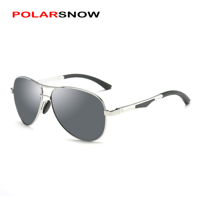 POLARSNOW Brand Men Retro Aluminum Sunglasses Polarized Lens Vintage Eyewear Accessories Sun Glasses 2017 Driving Oculos