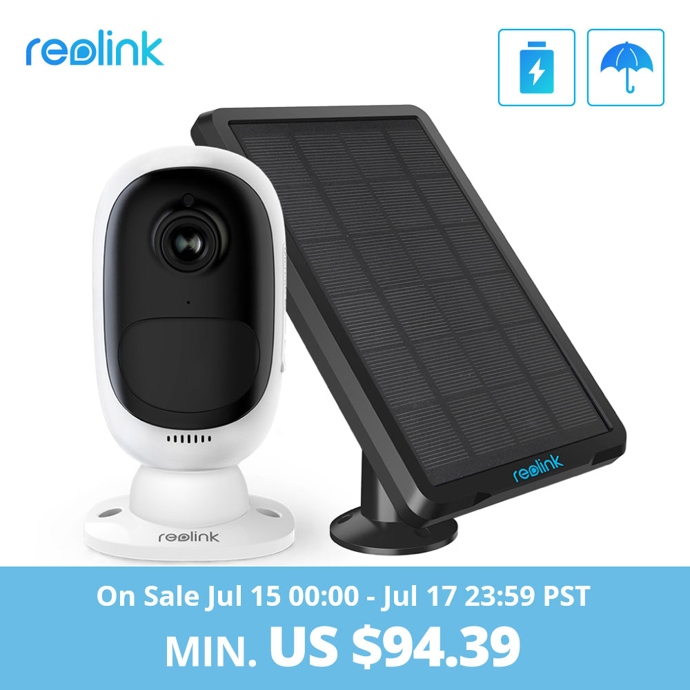 Reolink Argus 2 And Solar Panel Continuous Rechargeable Battery 1080P Full HD Outdoor Indoor Security WiFi Camera 130 Wide View(China)