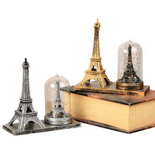 European Style Vintage Eiffel Tower Light Ornament Retro Plastic Home Decoration Crafts Creative Birthday Craft Gift For Friends(China)
