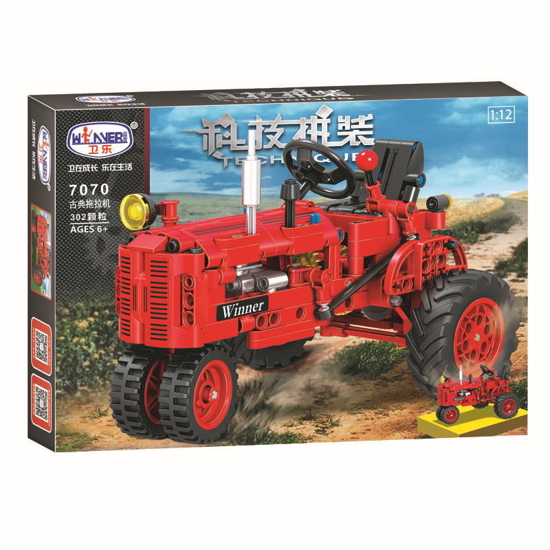 Knowledgeable Winner Technic Series 7070 302pcs Classical Tractor Building Block Diy Educational Toys For Children Xmas Gift Compatible Legos Blocks