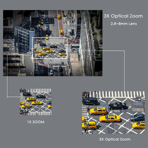 Image 4 - CTVMAN güvenlik PTZ kameralar Dome Pan/Tilt/Zoom 3X kamera Wifi açık ağ kablosuz PTZ IP kamera 1080P P2P Mini Wi fi kamera