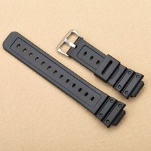 Silicone Rubber waterproof Strap16mm For CASIO DW-6900 Black PVC Watch BAND Strap DW-5600E Watch Accessories