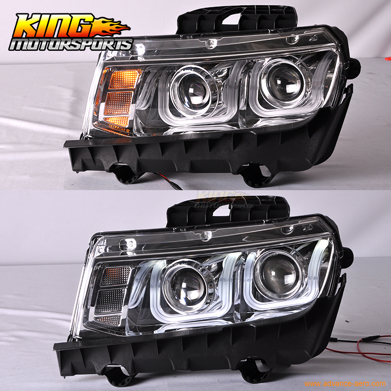 For 2014 2015 chevrolet camaro ls lt ss u bar ccfl halo projector for 2014 2015 chevrolet camaro ls lt ss u bar ccfl halo projector headlights chrome us domestic free shipping in car light assembly from automobiles aloadofball Image collections