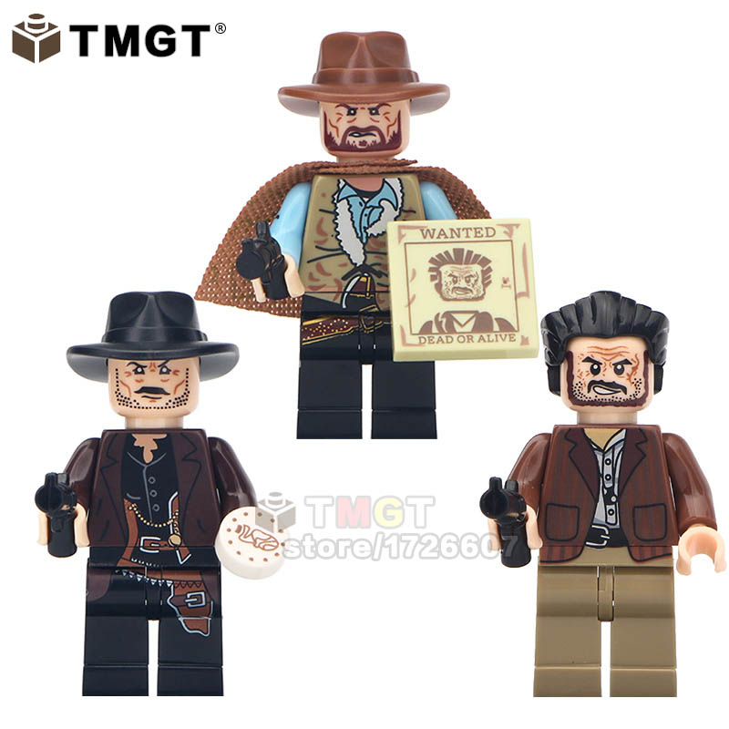 20LOTS OF WM6026 Building Blocks Cowboy The Good The Ugly The Bad Movie Characters Action Children