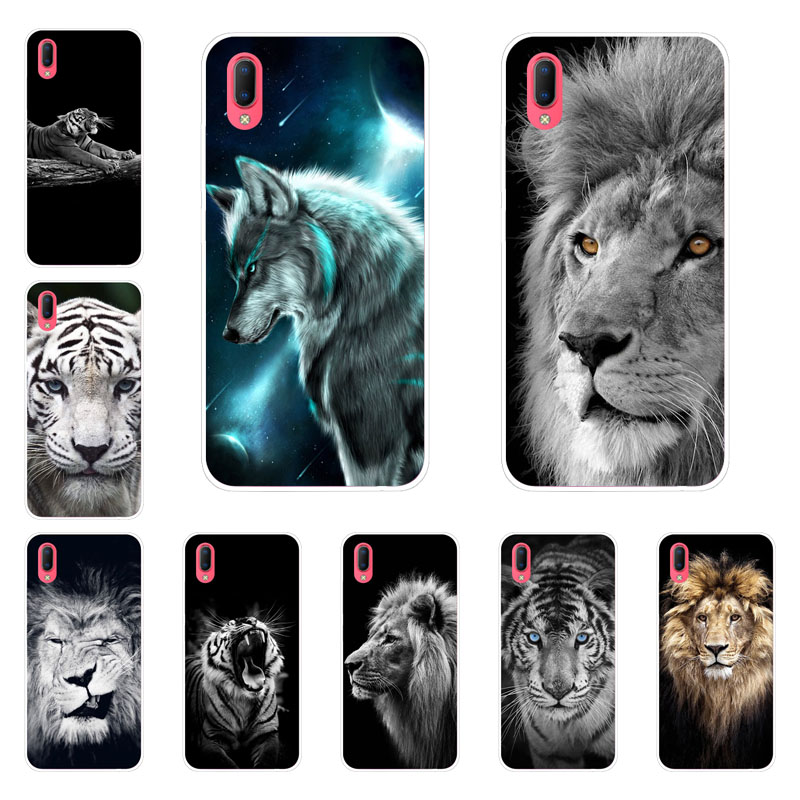 Vivo Y93 Case,Silicon Tiger lion Painting Soft TPU Back Cover for Vivo Y93 Y9S Phone protect Bags shell