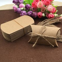 30Pcs/Lot Kraft Pillow Boxes With Free Strings DIY Gift Boxes Paper Present Box Accessory Packing Box Small Storage Boxes(China)