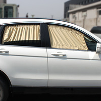 70S Cotton Fabric Car Curtain Side Window Car Sun Shade Curtain UV Protective Block Window Curtain