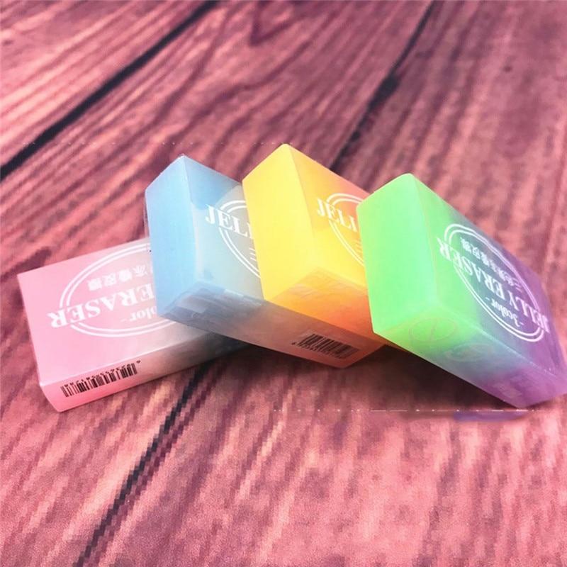 1 шт. Желейный цветной ластик для рисования, ластик для экзамена, коррекционный карандаш, ластик для студентов, Обучающие канцелярские принадлежности, школьные офисные принадлежности
