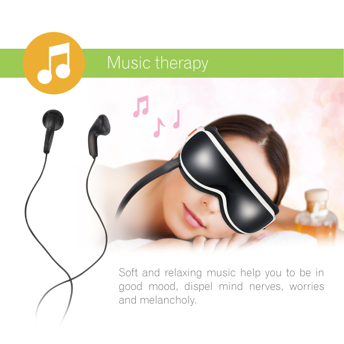KIKI NEWGAIN Air pressure Eye massager with music 6 functions Dispel eye bags eye magnetic Vibration and heating massager
