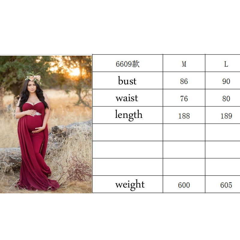 Image 5 - Shoulderless Maternity Dresses For Photo Shoot Maternity Photography Props Pregnancy Dresses For Pregnant Women Clothes Vestidos-in Dresses from Mother & Kids