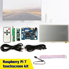New 1Set Raspberry Pi 7 inch Raspberry Pi LCD Touch Screen Display HDMI HD 1024x600 Touch LCD Driver Board with USB Cable Line