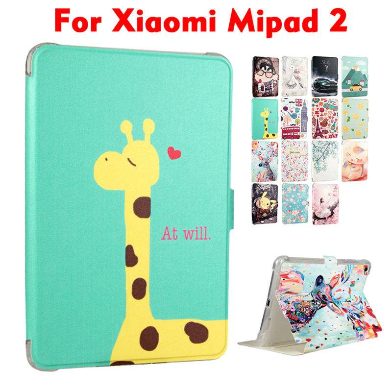 MiPad 2 PU Leather Case Cover 7.9 inch Smart Tablet PC Fundas Colorful Print For Xiaomi mipad 2 Mi Pad 2 Protective Stand Skin 7 9 hot sale fashion tablet cover case for xiaomi mi pad 1 slim flip bracket pu sleeve for mipad 2 auto wake sleep feb14