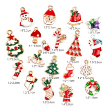HOT 19 Pcs Metal Alloy Assorted Christmas Charms Set Xmas Tree Snowman Jewellery Pendants Decor TI99