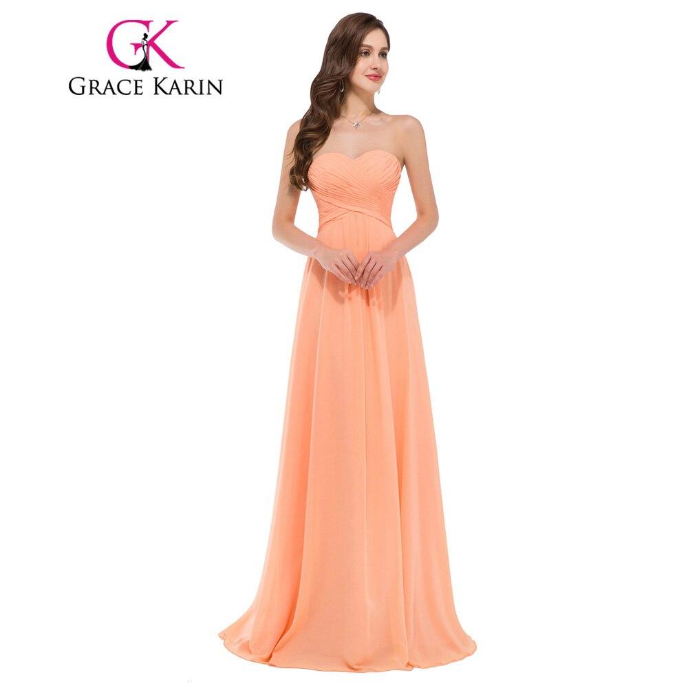 Grace karin vestido acanalada blusa nueva sexy novia sin tirantes de noche largo