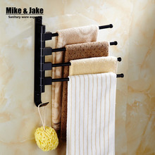 Черный подвижной стойке полотенце 2-3-4 полотенце бары ванная комната черный полотенце полка подвижный полотенце полка аксессуары для ванной MH9000