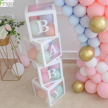 DIY Boy Girl 1 er cumpleaños fiesta decoración caja transparente Feliz cumpleaños fiesta Favor 2 ° cumpleaños fiesta decoraciones para baby shower