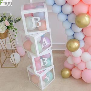 DIY Boy Girl 1st Birthday Party Decoration Transparent Box Happy Birthday Party Favor 2nd Birthday Party Decorations Baby Shower