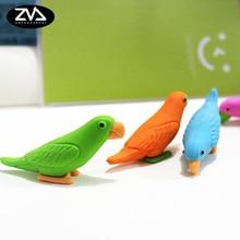 Office School Supplies - Correction Supplies - 2pcs/lot Cute Cartoon Eraser Lovely Parrot Modelling Eraser Children Stationery Gift Prizes  Kawaii School Supplies Papelaria