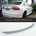 Серый ПУ задний багажник спойлер крыла для Audi A4 B8 2009 2010 2011 2012