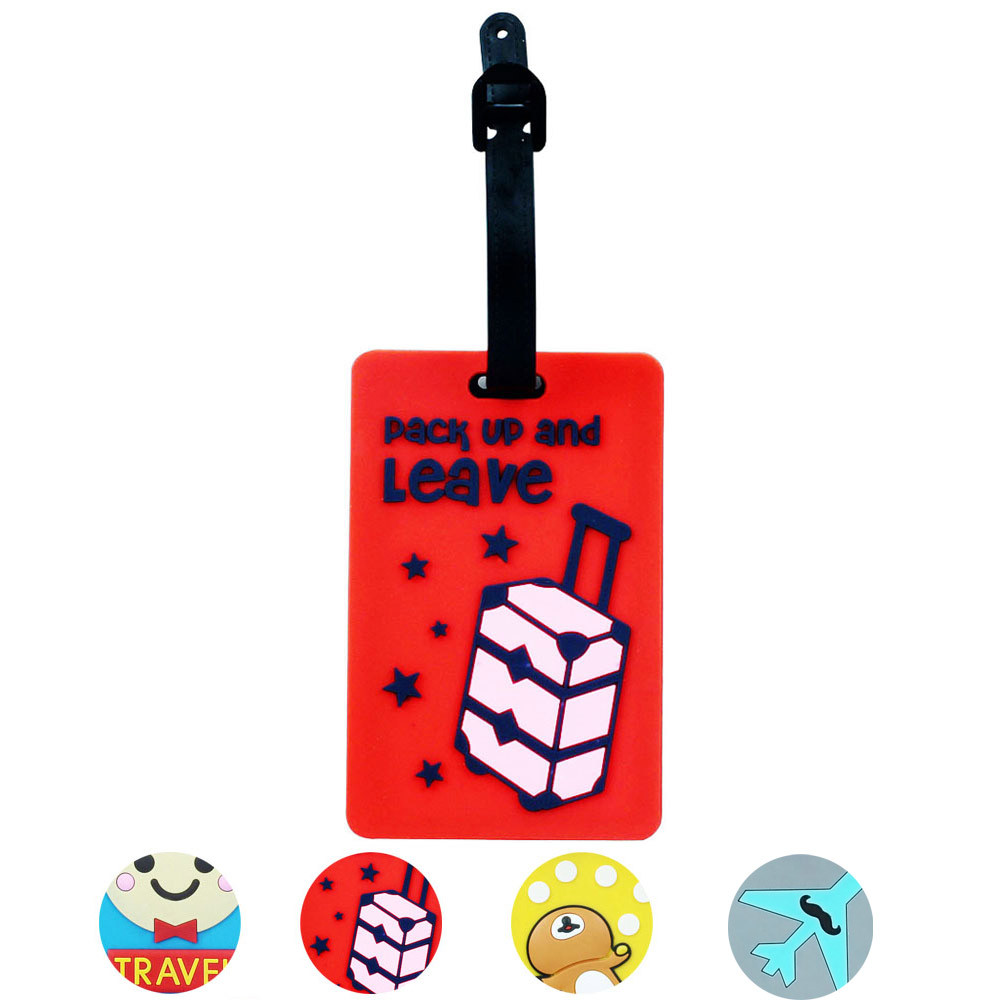 Luggage Handbag Cartoon colorful Cute Large Tags Label Diffrent pattern Portable Secure Travel Suitcase ID etiqueta sale