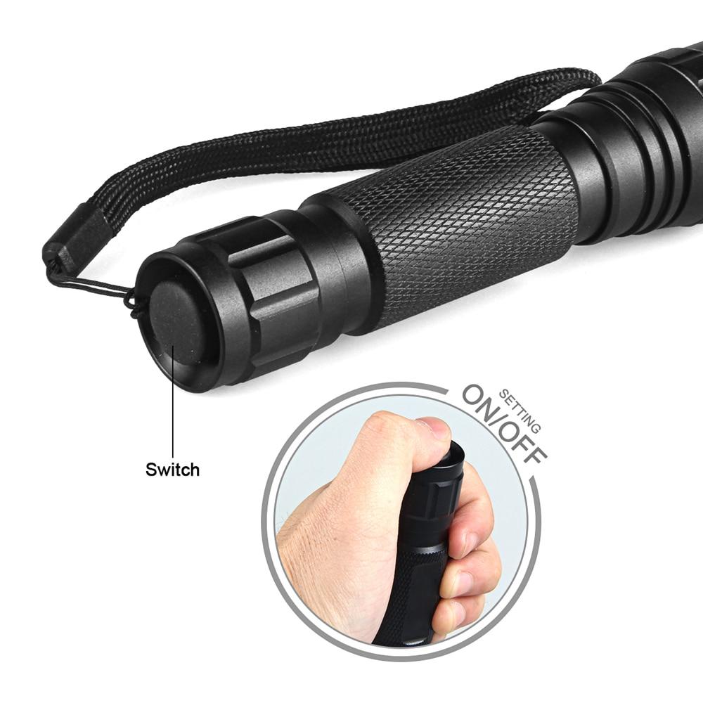 Hot super bright WF 501B CREE XML T6 1000 lumens 18650 1 mode outdoor waterproof spotlight torch hunting tactics LED flashlight in Flashlights Torches from Lights Lighting