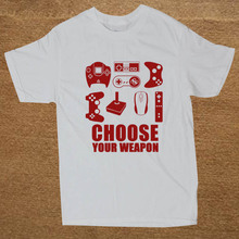 """Super geek """"CHOOSE YOUR WEAPON"""" video game controllers T-shirt"""