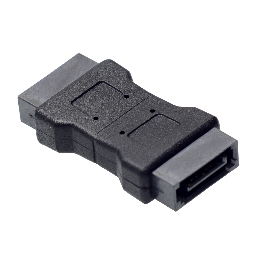 High Quanlity 7PIN SATA 3.0 Data Male To Male Port Adapter Straight Angle 7P Serial ATA III 6Gbps Jack Connector Coupler