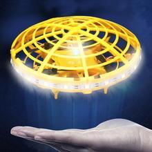 Gorąca sprzedaż czujnik na podczerwień LED w kształcie UFO Mini indukcja zdalnie sterowanego samolotu dzieci zabawki drony kryty zabawki na zewnątrz prezenty dla dzieci самолт на радиоуправ tanie tanio Metal 30 minutes Prawie gotowe 6-8 minutes None Pilot zdalnego sterowania Electric 5-10cm 11 cm-30 cm Other RC Aircraft