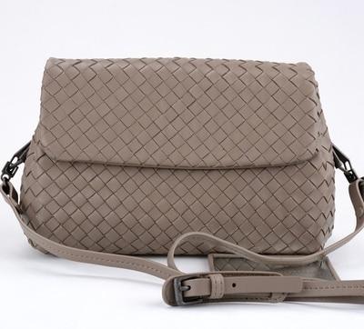Women Small Bag 2018 Genuine Sheepskin Handmade Woven High Quality Shoulder Bag Women Handbags Crossbody Bags