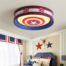 Captain America Superman Cartoon Animal Girls Boys Bedroom Lighting Led Baby Childrens Room Lamp Child Kids Ceiling Lamp Light