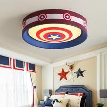 Kaptan amerika Superman karikatür hayvan kız erkek yatak odası aydınlatması Led bebek çocuk odası lamba çocuk çocuklar tavan lamba ışığı