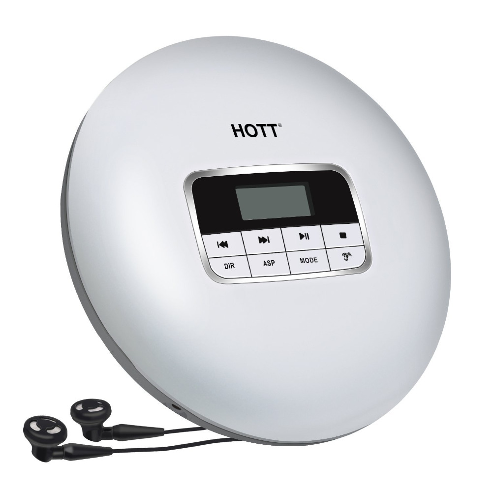 Portable CD Player HOTT Portable Personal CD Player with Headphone Jack, Anti-Skip/Shockproof Protection Compact CD Music Player portable compact cd player support cd r cd rw mp3 compact disc cd players with lcd display electronic skip protection shock