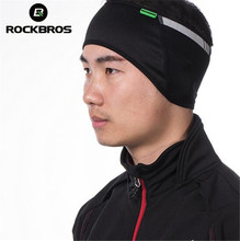 ROCKBROS Sports Outdoors Reflective Handwear Cycling Bike Headband Hat Winter Warm Fleece Thermal Bicycle Cap Ear Warmer Protect