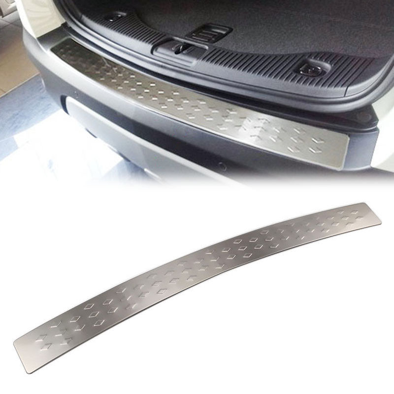 Car Stainless Steel Rear Bumper Protector Cover Sill Plate Trim Garnish Fit for Buick Encore Opel Mokka 2012-2018 Car Styling car accessories chromium parts 2017 16 modified stainless steel window trim bright decorative windows for buick encore page 8