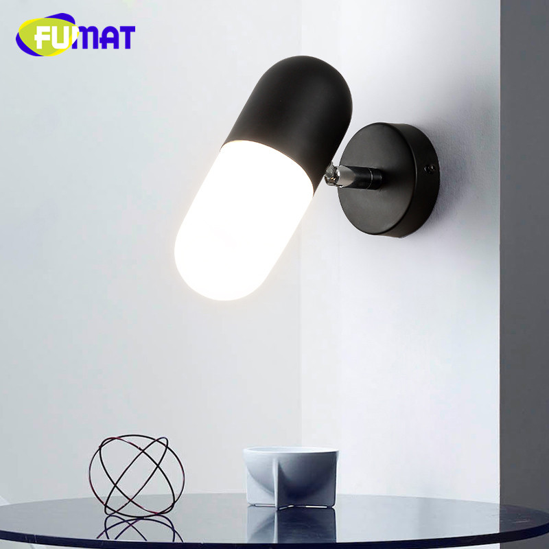 European Modern Mirror Front Light Living Room Bedroom Bedside Wall Light Sconce Corridor Stairs Ajustable LED Wall Lamps