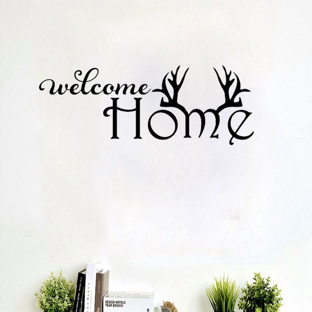 Welcome Home Quote Wall Decals LANRUN5505 Home Decorative Removable ...