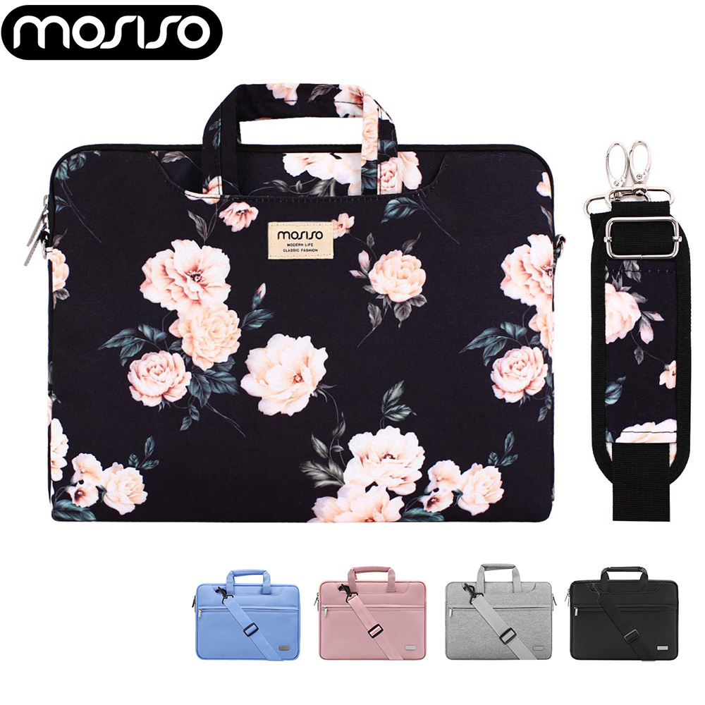 MOSISO 13.3 <font><b>15</b></font>.6 16 inch Laptop Notebooks Belt Shoulder Bag for Macbook Air Pro 13 <font><b>15</b></font> 16 2019 A2141 Acer Dell <font><b>Asus</b></font> Notebook Bag image