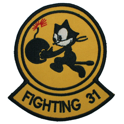 NAVY FIGHTING 31 SQUADRON FELIX THE CAT BOMB EMBROIDERED