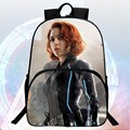 New 16-inch Prints Cool Hero Avengers Kids School Bags Students Backpacks Black Widow Boys School Backpack Children Mochila Bag