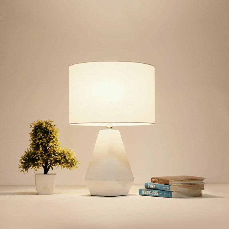 Office bedroom desk general lighting decorative desk lamp cloth art resin reading lamp 1845