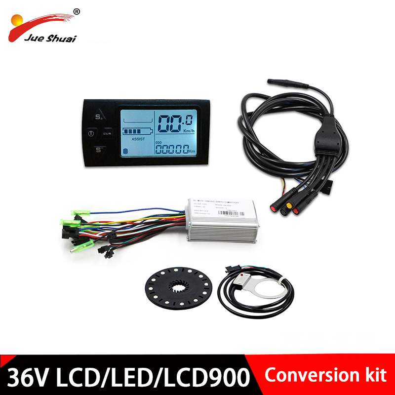 36V E bike conversion Set Pedal Assist System LCD/LED display waterproof wire Electric Bicycle accessories Controller system kit